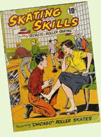 1950s Chicago Roller Skates comic book